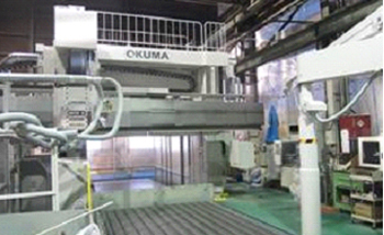 Large NC machining center.Okuma MCR-A  5 axis machining center