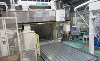 Large NC machining center.Okuma MCR-B11-HP 5 axis machining center